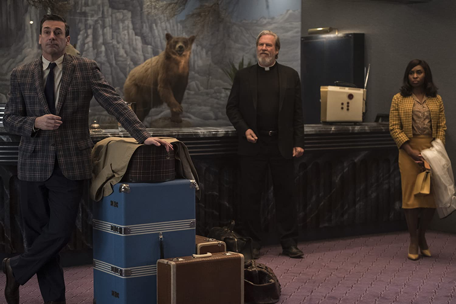 Jeff Bridges, Jon Hamm, and Cynthia Erivo in Bad Times at the El Royale (2018)