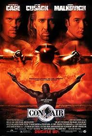 Nicolas Cage, John Cusack, John Malkovich, and Ving Rhames in Con Air (1997)
