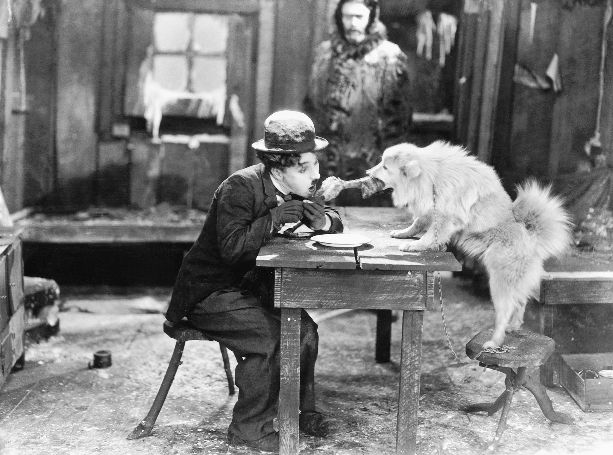 Charles Chaplin and Tom Murray in The Gold Rush (1925)