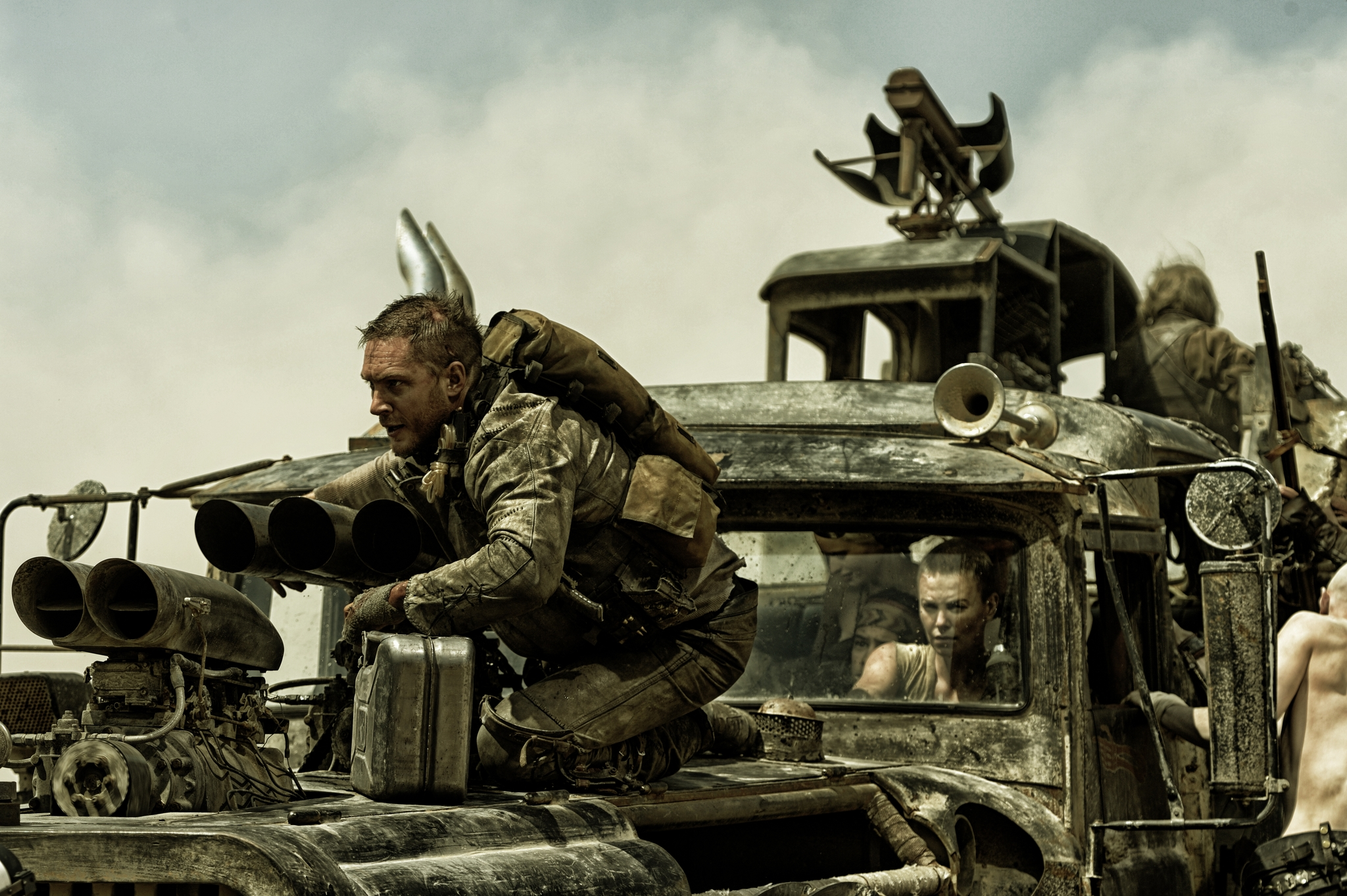 Charlize Theron and Tom Hardy in Mad Max: Fury Road (2015)