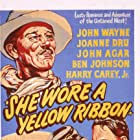 John Wayne, John Agar, and Joanne Dru in She Wore a Yellow Ribbon (1949)