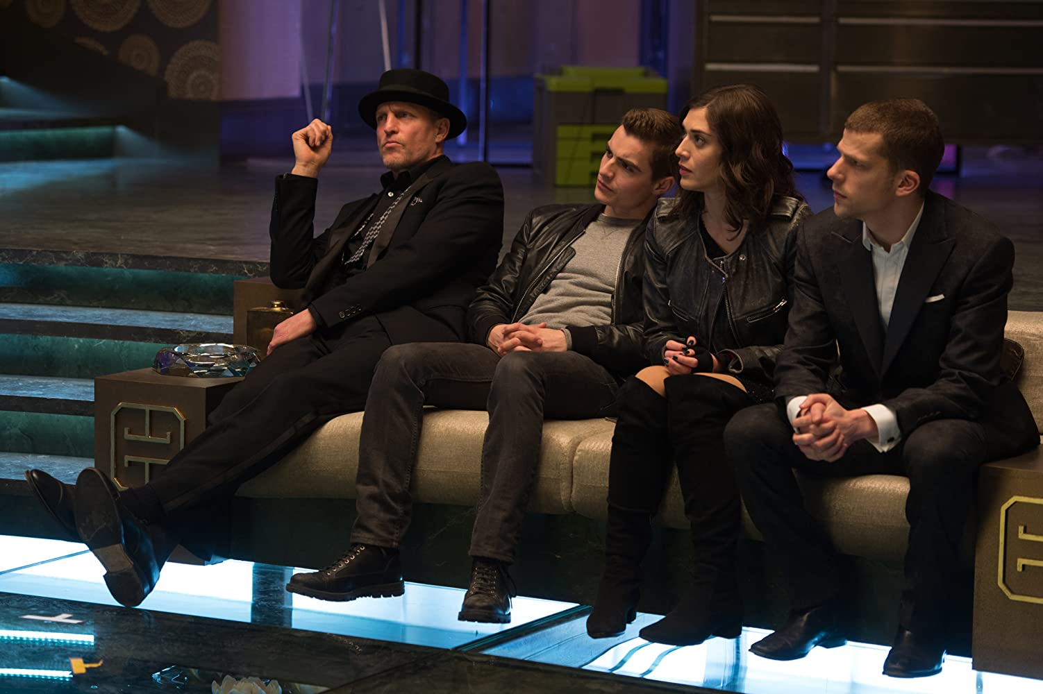 Woody Harrelson, Lizzy Caplan, Jesse Eisenberg, and Dave Franco in Now You See Me 2 (2016)