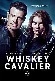 Scott Foley and Lauren Cohan in Whiskey Cavalier (2019)