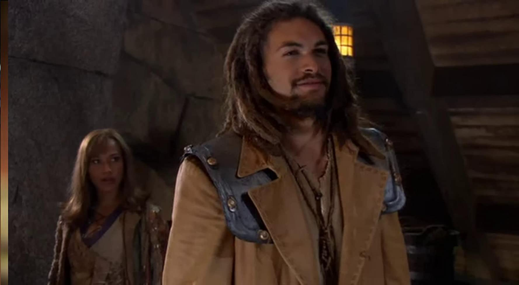 Rachel Luttrell and Jason Momoa in Stargate: Atlantis (2004)