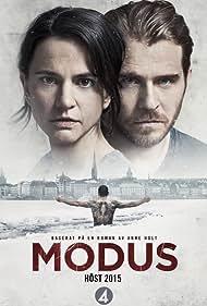 Melinda Kinnaman and Henrik Norlén in Modus (2015)