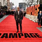 Dwayne Johnson at an event for Rampage (2018)