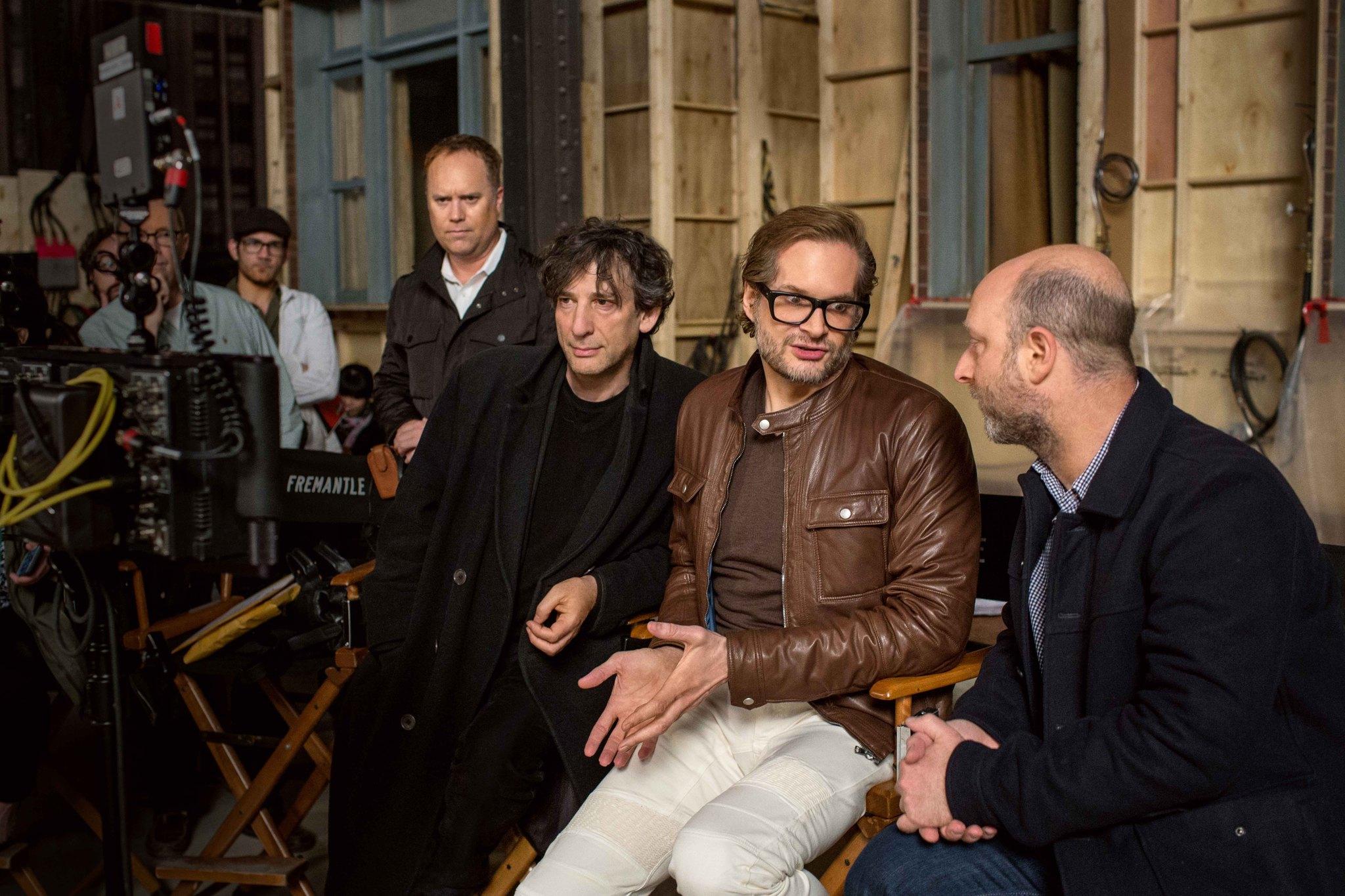 Bryan Fuller, Neil Gaiman, and Michael Green in American Gods (2017)
