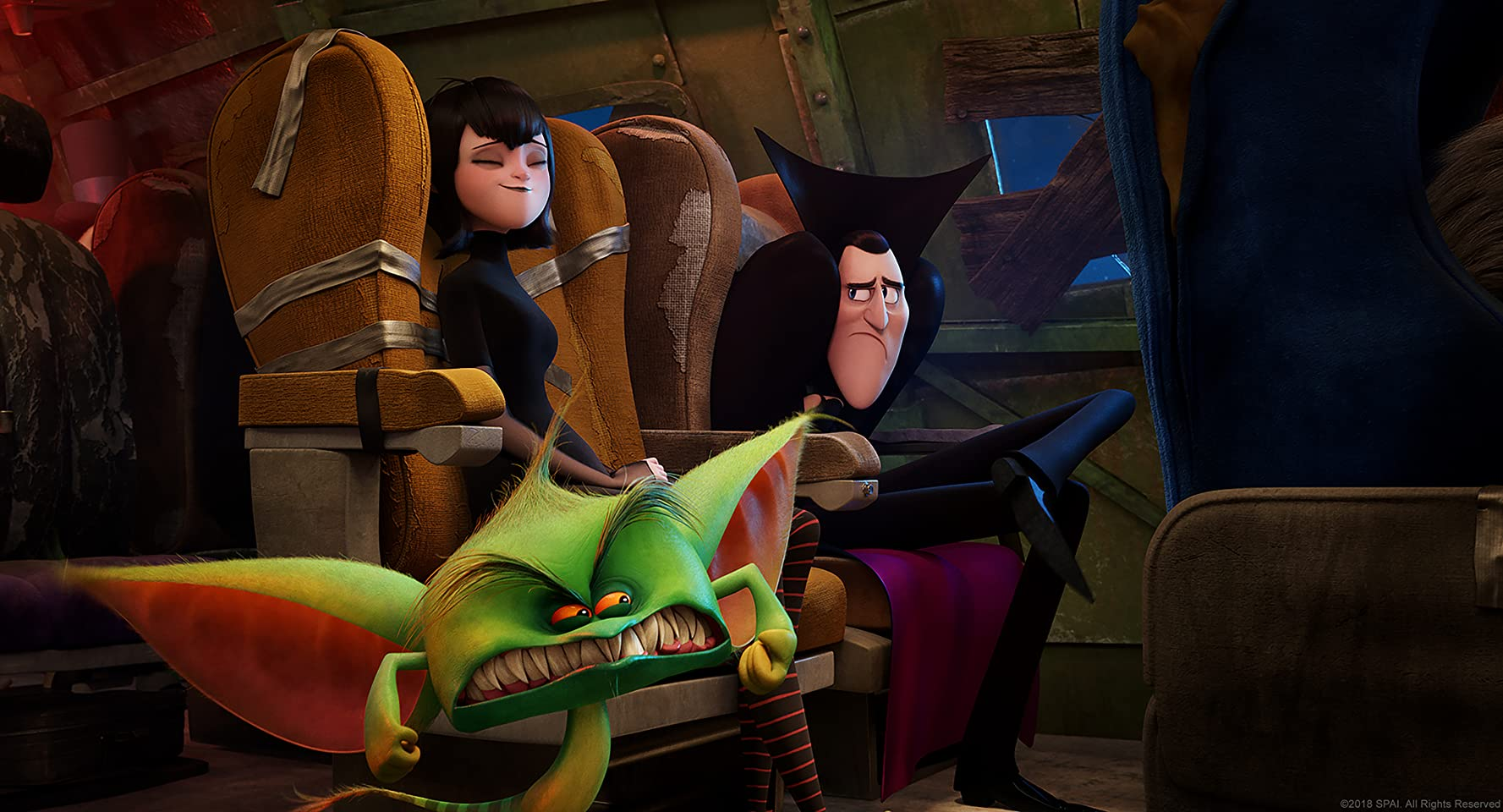 Adam Sandler and Selena Gomez in Hotel Transylvania 3: Summer Vacation (2018)