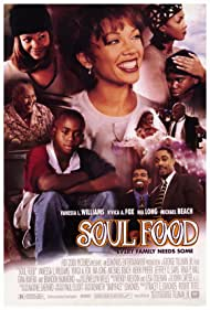 Vivica A. Fox, Nia Long, Mekhi Phifer, Vanessa Williams, Michael Beach, Irma P. Hall, Brandon Hammond, and Jeffrey D. Sams in Soul Food (1997)