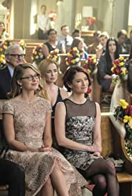 Victor Garber, Tom Cavanagh, Chyler Leigh, Caity Lotz, and Melissa Benoist in Supergirl (2015)