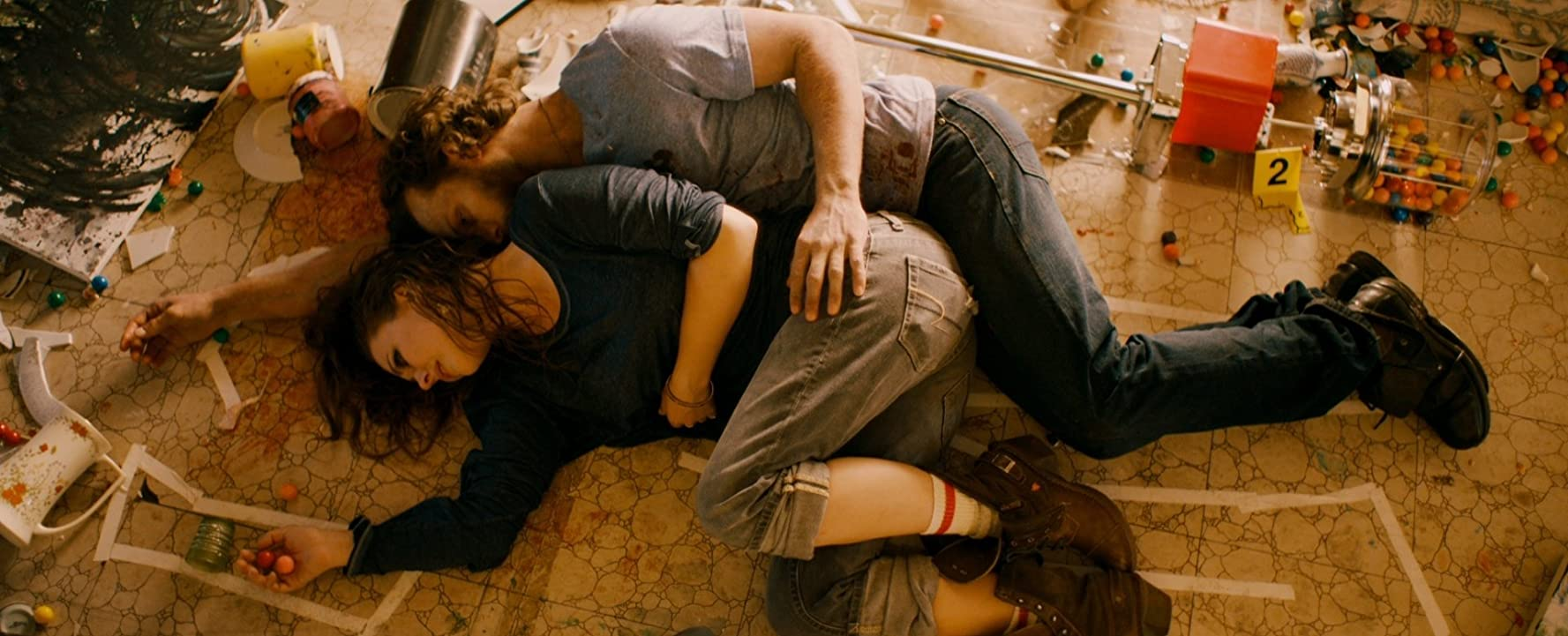 Still of Katharine Isabelle and Kyle Schmid in 88.