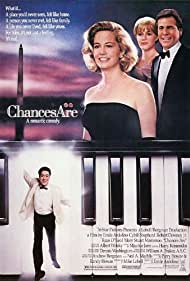 Robert Downey Jr., Mary Stuart Masterson, Cybill Shepherd, and Ryan O'Neal in Chances Are (1989)