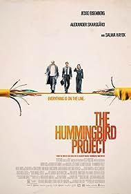 Salma Hayek, Alexander Skarsgård, and Jesse Eisenberg in The Hummingbird Project (2018)
