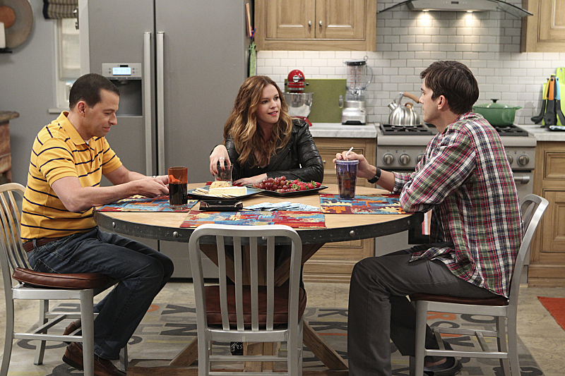 Jon Cryer, Ashton Kutcher, and Amber Tamblyn in Two and a Half Men (2003)