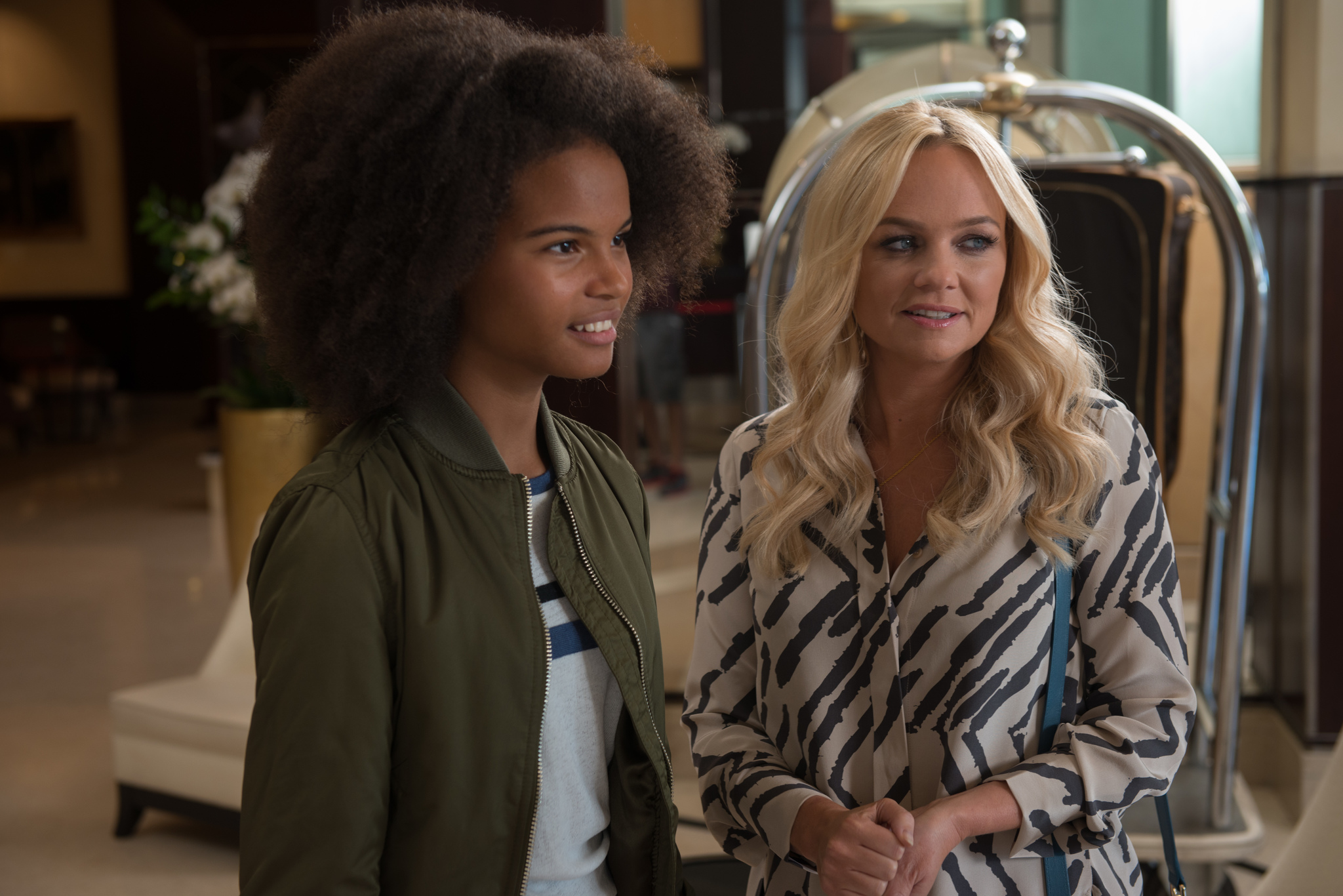 Emma Bunton and Indeyarna Donaldson-Holness in Absolutely Fabulous: The Movie (2016)