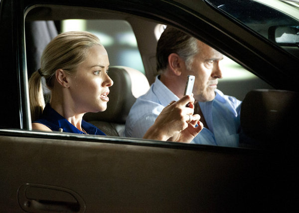 Bruce Campbell and Kristanna Loken in Burn Notice (2007)