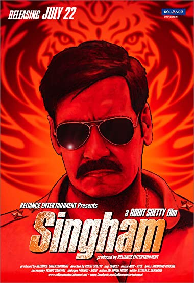 Poster of Singham 2011 Full Hindi Free Download Watch Online In HD Movie Download 720p BluRay