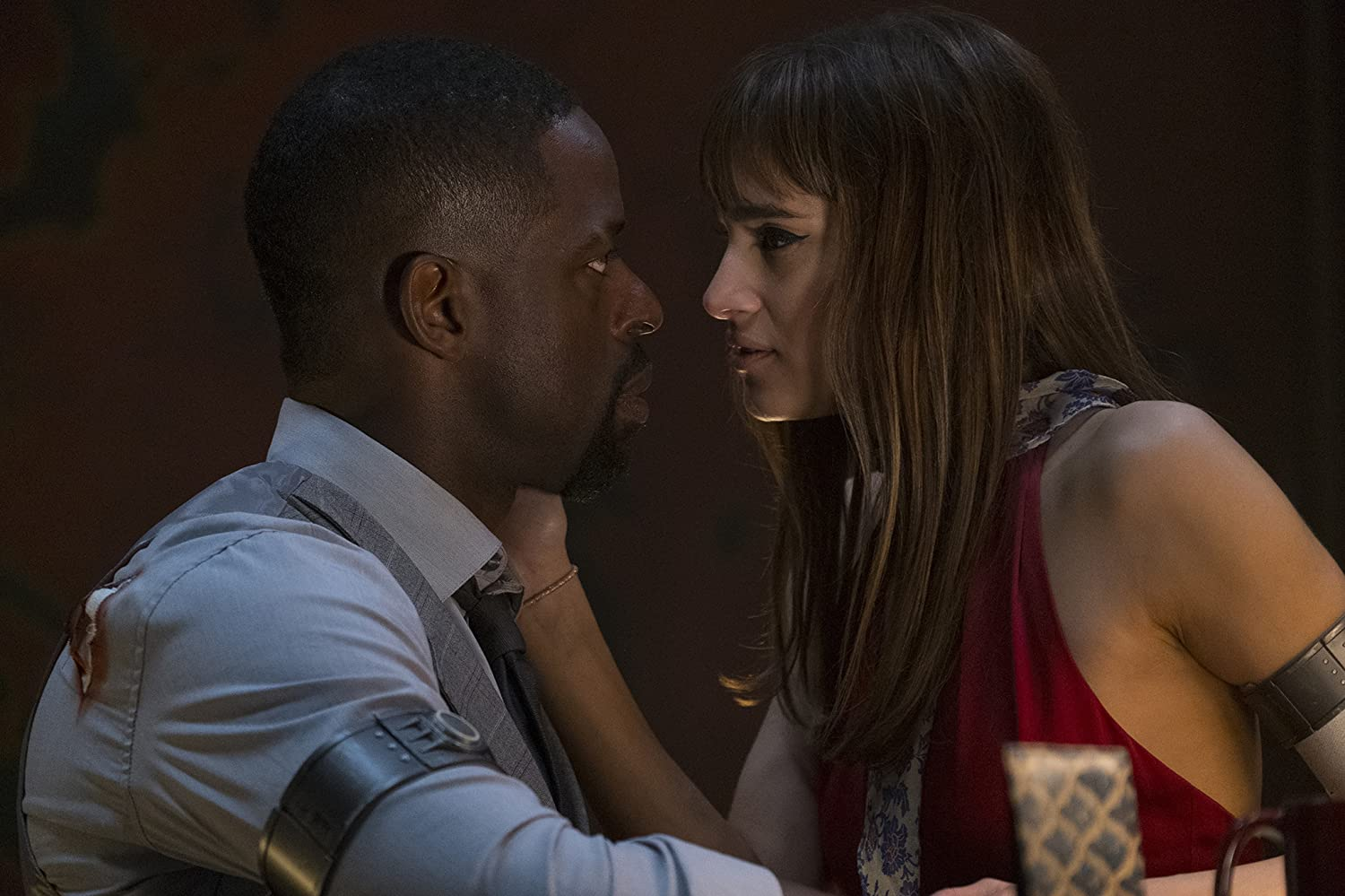 Sofia Boutella and Sterling K. Brown