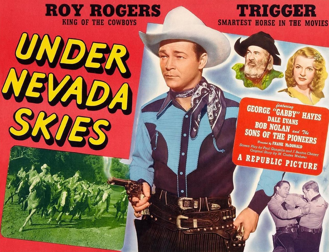 Roy Rogers, Dale Evans, and George 'Gabby' Hayes in Under Nevada Skies (1946)