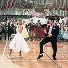 John Travolta, Olivia Newton-John, Annette Charles, Didi Conn, and Michael Tucci in Grease (1978)
