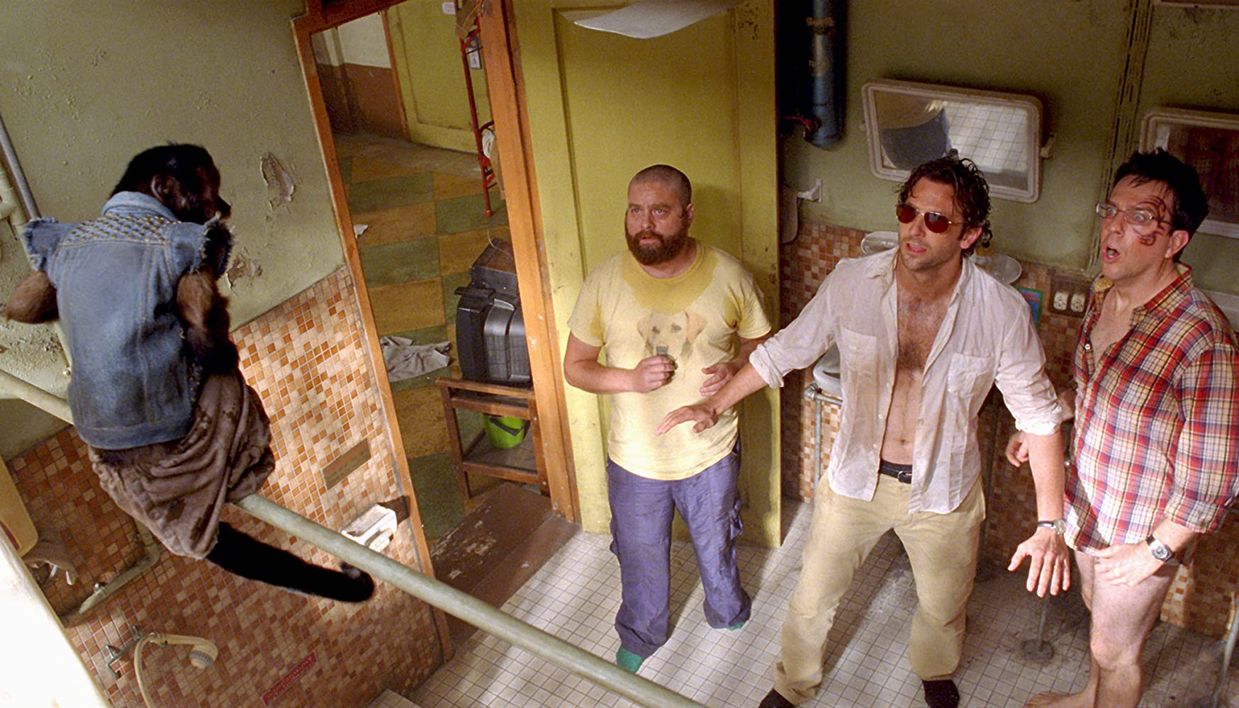 Bradley Cooper, Zach Galifianakis, and Ed Helms in The Hangover Part II (2011)