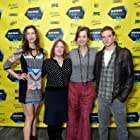 Margaret Colin, Jen McGowan, Alysia Reiner, and Jonny Weston at an event for Kelly & Cal (2014)