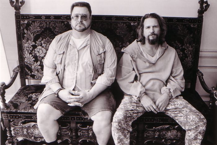 Jeff Bridges and John Goodman in The Big Lebowski (1998)
