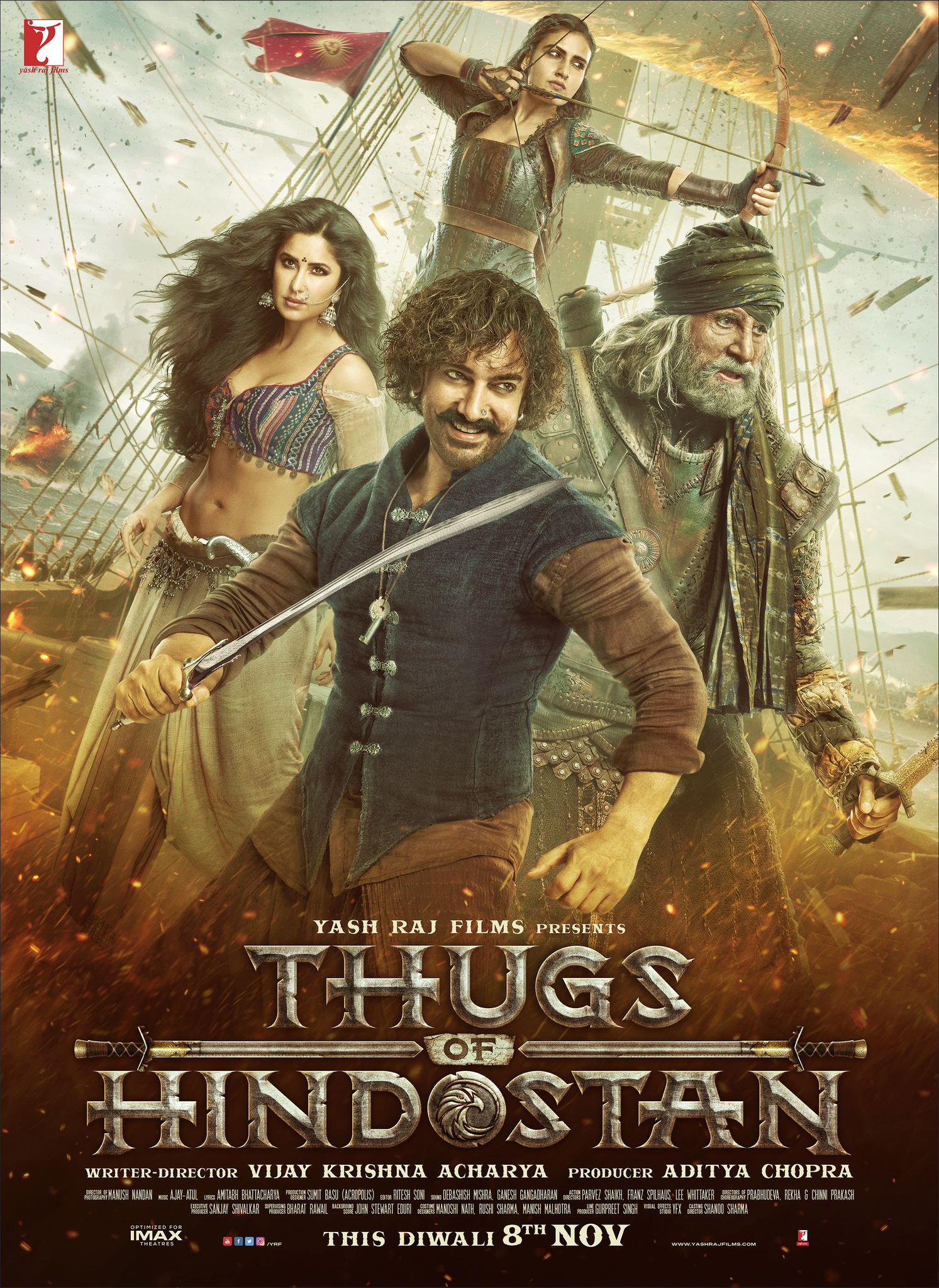 Thugs of Hindostan (2018) Hindi Pre-DvDRip – 480P | 720P – x264 – 400MB | 700MB | 1.3GB – Download & Watch Online With English Subtitle [Full Movie]