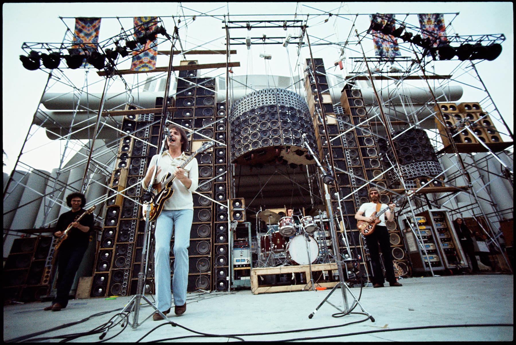 Jerry Garcia, Bill Kreutzmann, Phil Lesh, and Bob Weir in Long Strange Trip (2017)