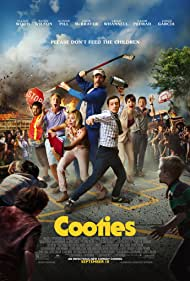 Elijah Wood, Jorge Garcia, Alison Pill, Rainn Wilson, Leigh Whannell, Jack McBrayer, and Nasim Pedrad in Cooties (2014)