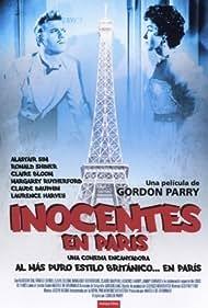 Laurence Harvey and Mara Lane in Innocents in Paris (1953)