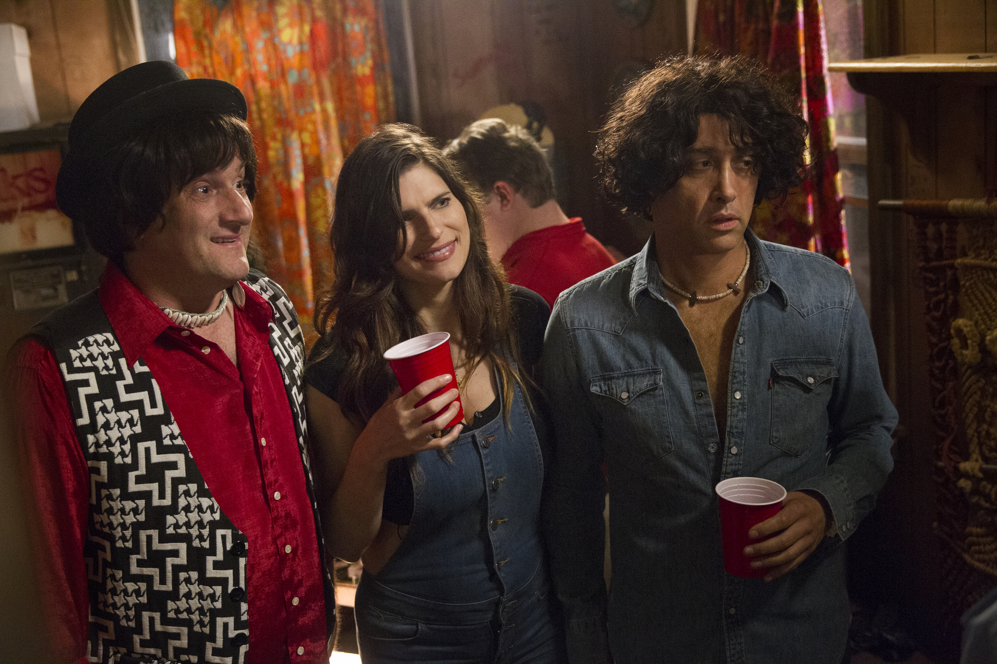 Michael Showalter, David Wain, and Lake Bell in Wet Hot American Summer: First Day of Camp (2015)