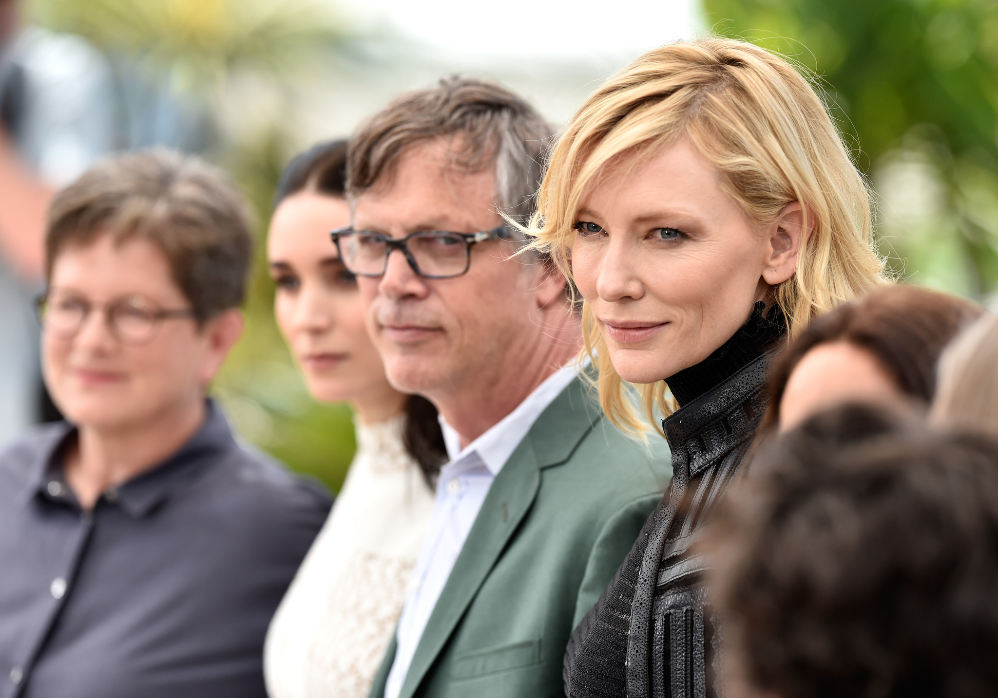 Cate Blanchett, Todd Haynes, Phyllis Nagy, and Rooney Mara at an event for Carol (2015)