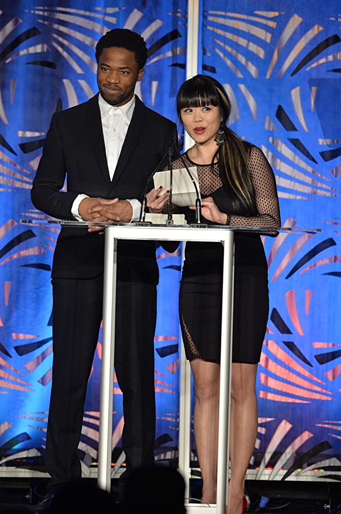 Grace Lynn Kung presenting the Award for Best Actor, with Dewshane Williams.