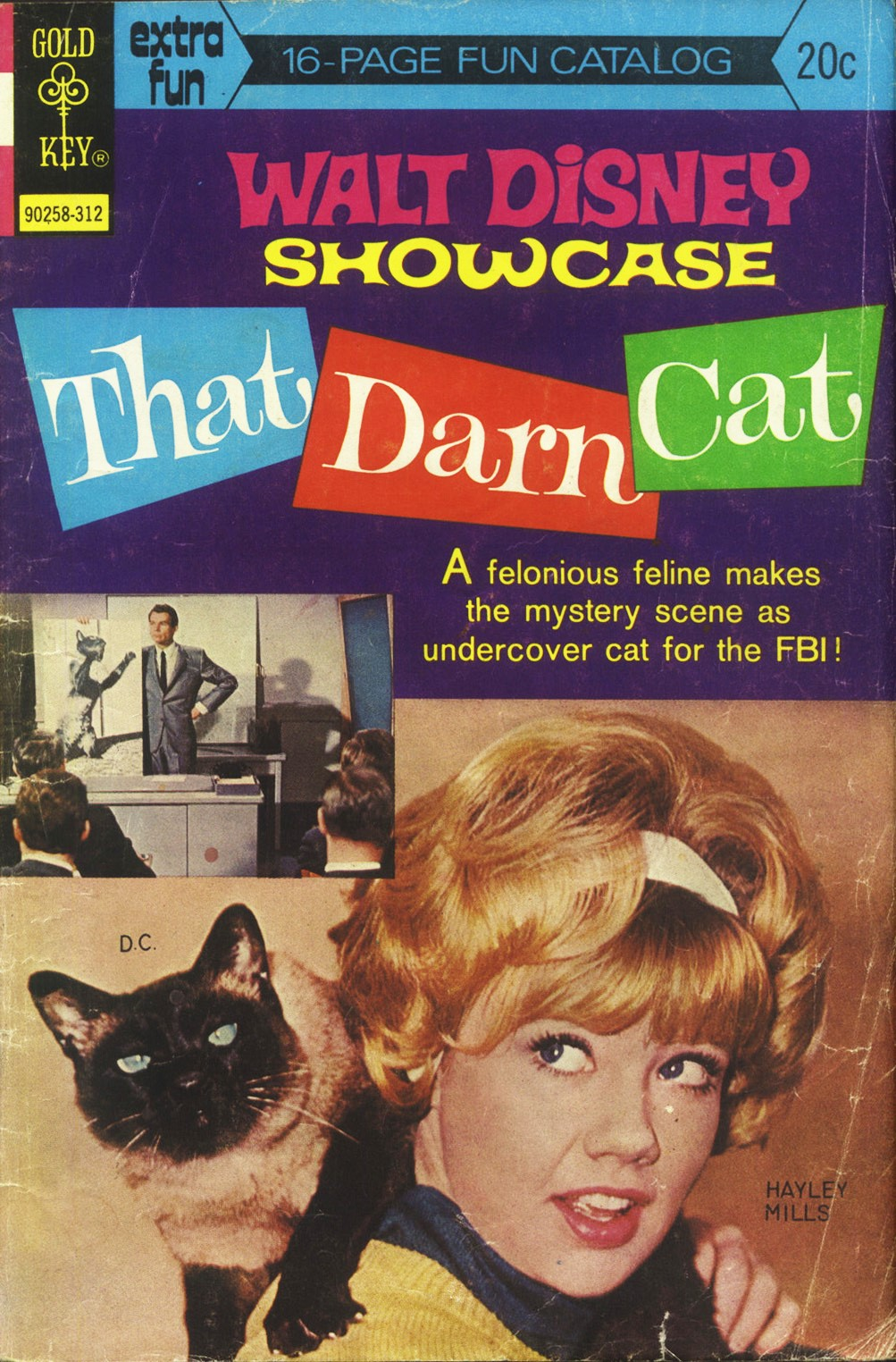 Hayley Mills, Dean Jones, and Syn Cat in That Darn Cat! (1965)
