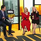 Patricia Clarkson, Carol Morley, and Dave Karger at an event for Out of Blue (2018)