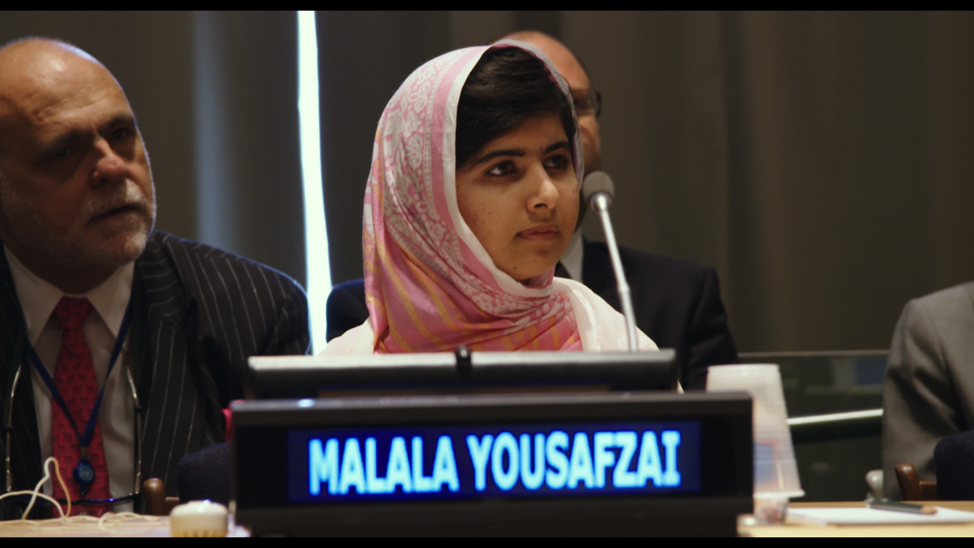 Malala Yousafzai at the United Nations General Assembly in New York City.