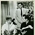 James Mason, Desi Arnaz, and Lucille Ball in Forever, Darling (1956)
