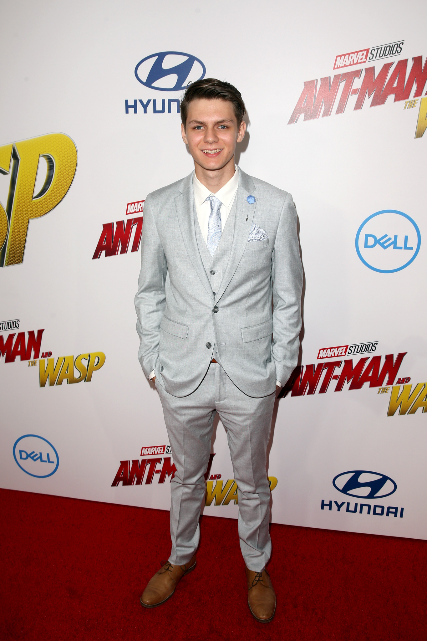 Ty Simpkins at an event for Ant-Man and the Wasp (2018)