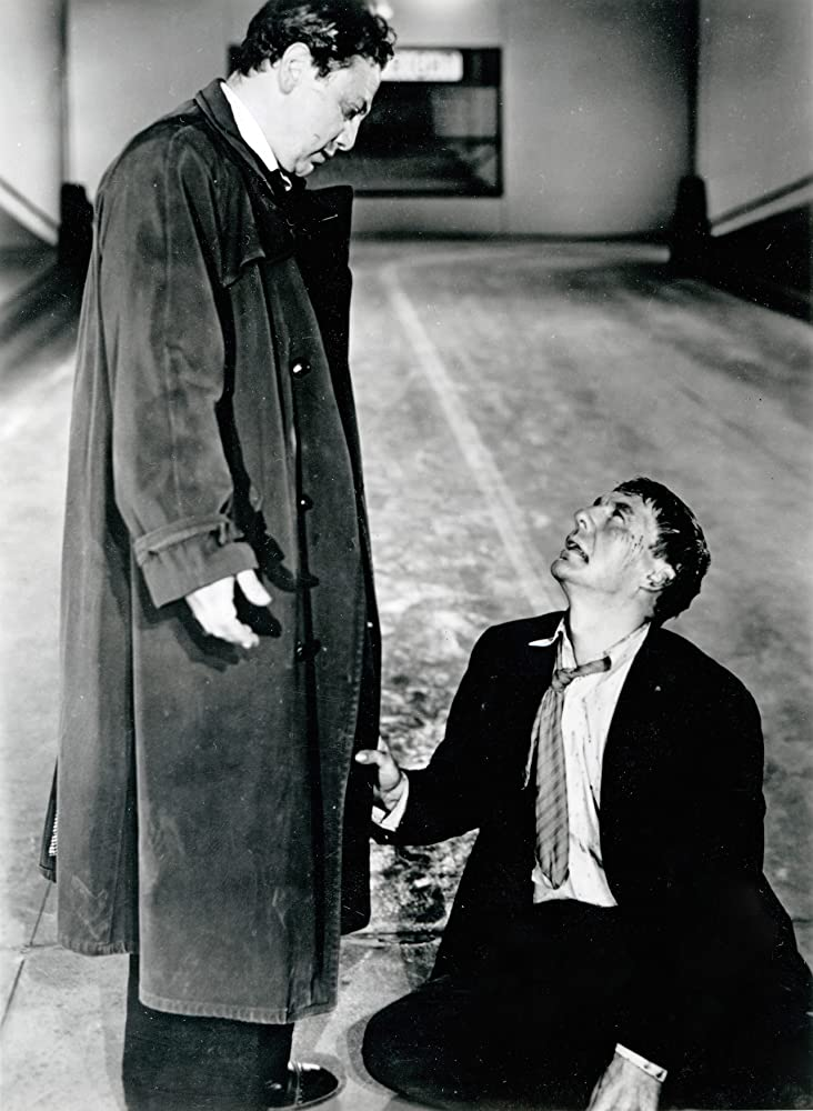Luther Adler and David Wayne in M (1951)