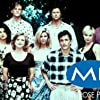 Heather Locklear, Daphne Zuniga, Grant Show, Courtney Thorne-Smith, Josie Bissett, Thomas Calabro, Doug Savant, and Andrew Shue in Melrose Place (1992)