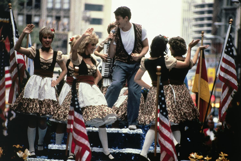 Matthew Broderick, Lee Ann Marie, and Vlasta Krsek in Ferris Bueller's Day Off (1986)