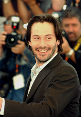 Keanu Reeves at an event for The Matrix Reloaded (2003)