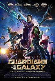 Vin Diesel, Bradley Cooper, Chris Pratt, Zoe Saldana, and Dave Bautista in Guardians of the Galaxy (2014)