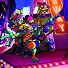 Kat Graham, Omar Benson Miller, Brandon Mychal Smith, Ben Schwartz, and Josh Brener in Rise of the Teenage Mutant Ninja Turtles (2018)