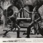 Oliver Reed and Jack Gwillim in Sword of Sherwood Forest (1960)