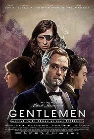 Sverrir Gudnason, David Dencik, Ruth Vega Fernandez, and David Fukamachi Regnfors in Gentlemen (2014)