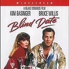 Kim Basinger and Bruce Willis in Blind Date (1987)