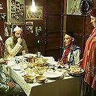 Ilan Ganani, Shaul Mizrahi, Shuli Rand, and Michal Bat-Sheva Rand in Ha-Ushpizin (2004)