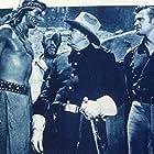 Rock Hudson, Robert Burton, Richard H. Cutting, and Gregg Palmer in Taza, Son of Cochise (1954)